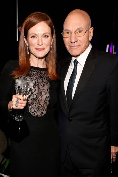 Julianne Moore and Sir Patrick Stewart