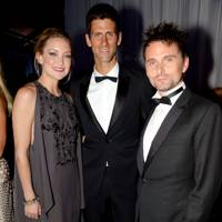 Kate Hudson, Novak Djokovic and Matt Bellamy