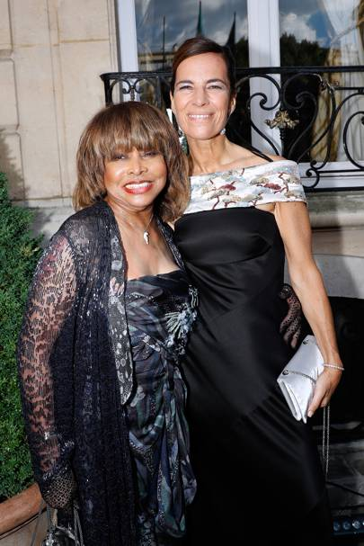 Tina Turner and Roberta Armani