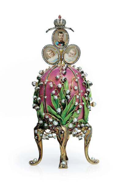 Lilies-of-the-Valley Easter Egg, House of Fabergé, 1898