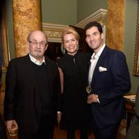Sir Salman Rushie, Erin Morris and Zafar Rushdie