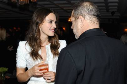 Keira Knightley and Harvey Weinstein