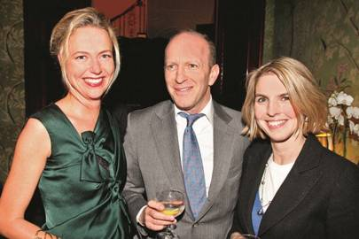 Felicia Brocklebank, Simon Sebag Montefiore and Viscountess Dunluce