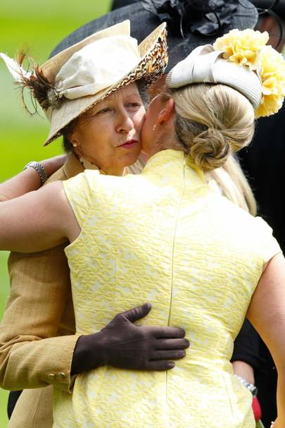 Zara Tindall and the Princess Royal