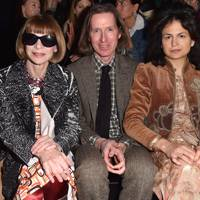 Anna Wintour, Wes Anderson and Juman Malouf at at Prada A/W18