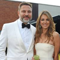 David Walliams and Elizabeth Hurley