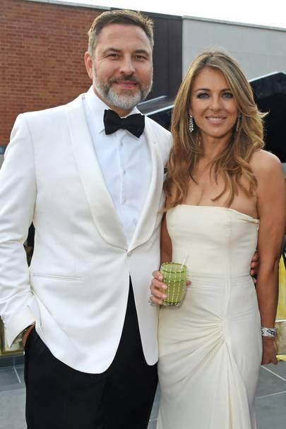 David Walliams and Elizabeth Hurley