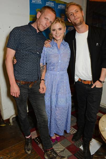 Laurence Fox, Emilia Fox and Jack Fox