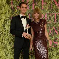 Andrew Garfield and Dame Anna Wintour