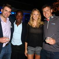 Duncan Morris, Serge Betsen, Ashleigh McIvor and Alexander Kemmis Betty