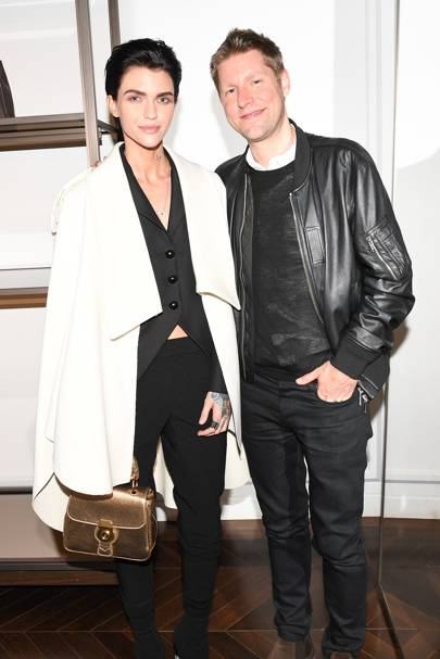 Ruby Rose and Christopher Bailey