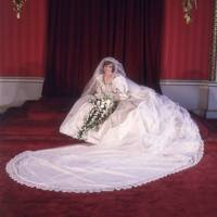 Lady Diana Spencer on her wedding day to Prince Charles, 1981