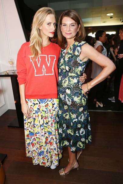 Poppy Delevingne and Natalie Massenet