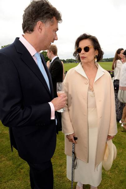 Laurent Feniou and Bianca Jagger