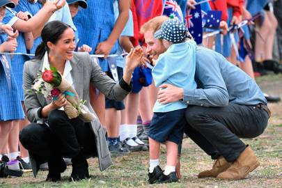 The Duchess of Sussex, the Duke of Sussex and Luke Vincent