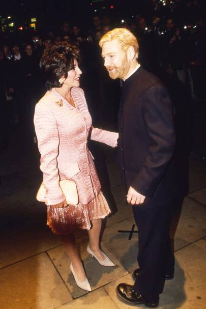 Joan Collins and Kenneth Branagh
