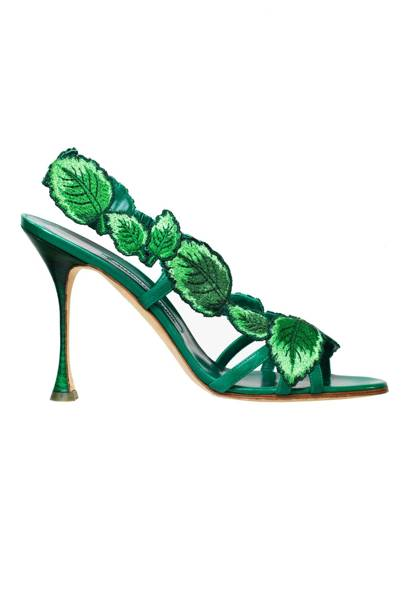 Leather heels, £795, by Manolo Blahnik