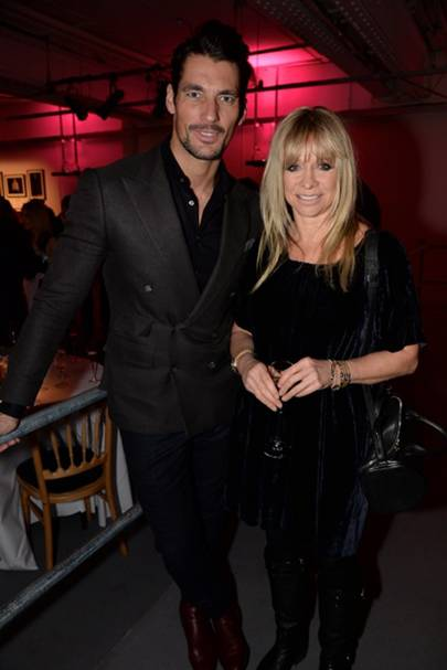 David Gandy and Jo Wood