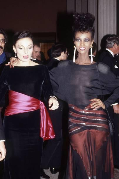 Diane von Furstenberg and Iman Abdulmajid