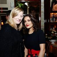 Sarah Burton and Salma Hayek-Pinault