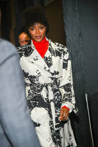 Naomi Campbell at the Calvin Klein Collection show