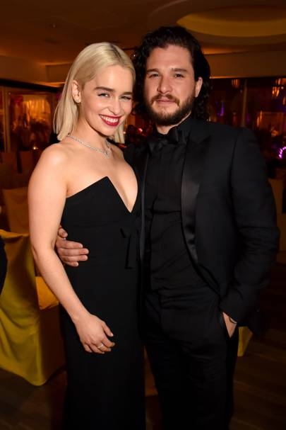 Emilia Clarke and Kit Harington