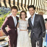 Eddie Redmayne, Lily Collins and Ben Barnes
