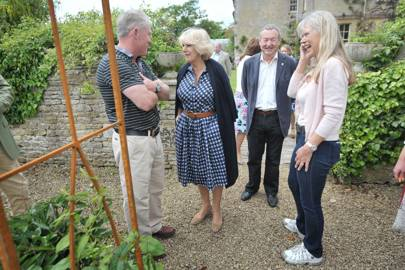 Frank Powell, the Duchess of Cornwall, Nick Mason and Annette Lynton Mason