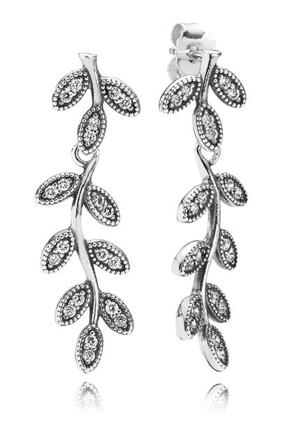 Sterling-silver & cubic-zirconia earrings, £80, by Pandora