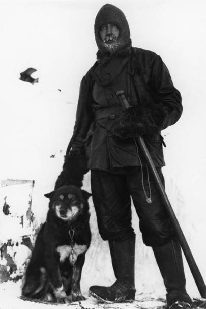 Expeditioner Cecil Henry Meares with Osman, by Herbert George Ponting, 1911