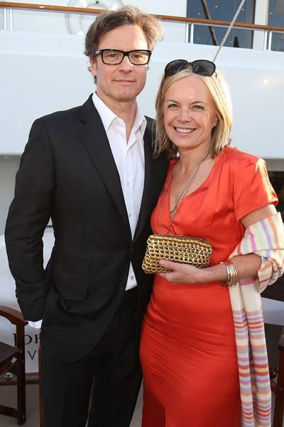 Colin Firth and Mariella Frostrup