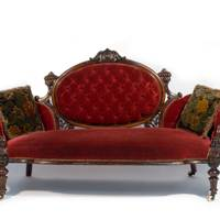 A Napoleon III-style sofa from the Ritz Club