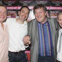 Anthony Drewe, Elliot Davis, Stephen Fry and George Stiles