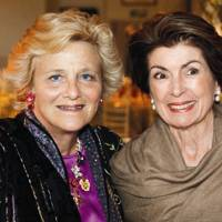 Dame Vivien Duffield and Felicity Clark