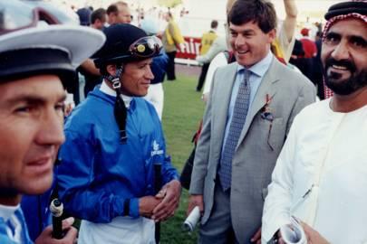 Jerry Bailey, David Flores, Simon Crisford and Sheikh Mohammed Bin Rashid Al Maktoum