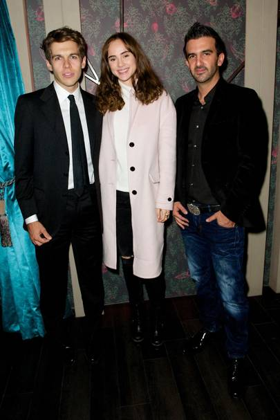 James Righton, Suki Waterhouse and Mark Alexiou