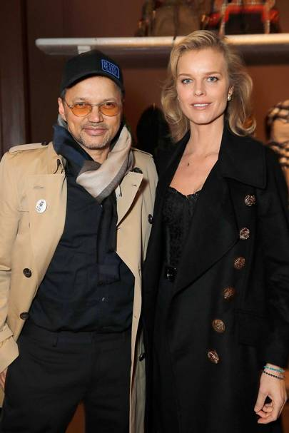 Gerry DeVeaux and Eva Herzigova