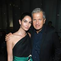 Lily Aldridge and Mario Testino at Carolina Herrera