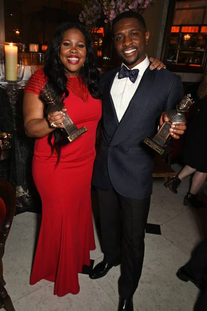 Amber Riley and Adam J Bernard