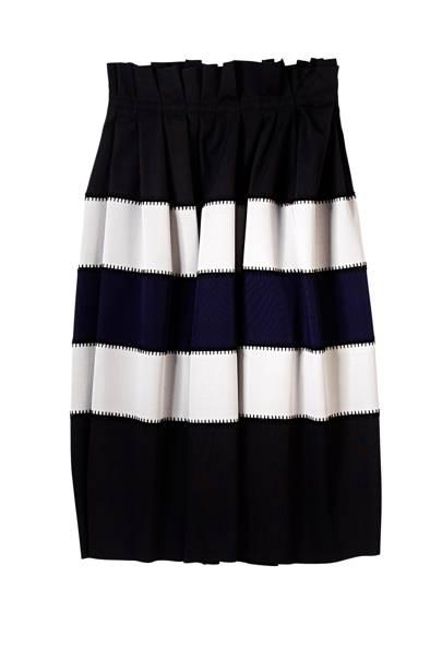 Wool skirt, £1,380, by Jonathan Saunders