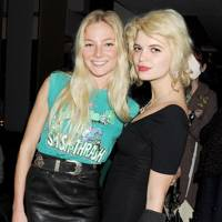 Clara Paget and Pixie Geldof