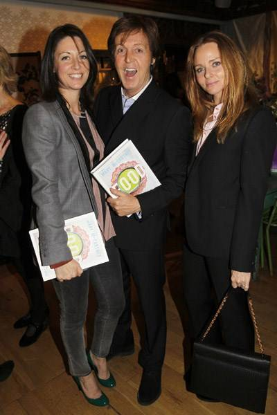 Mary McCartney , Sir Paul McCartney and Stella McCartney