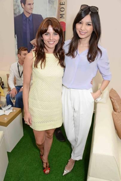 Ophelia Lovibond and Gemma Chan