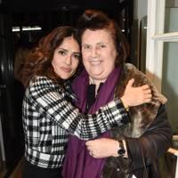 Salma Hayek and Suzy Menkes