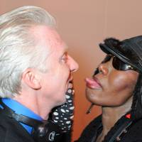 Philip Treacy and Grace Jones