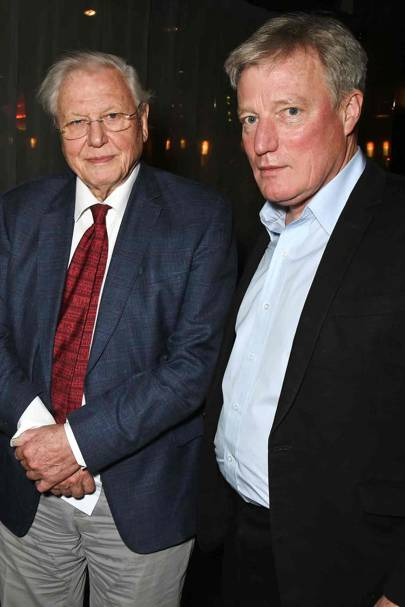 Sir David Attenborough and Timothy Hatton