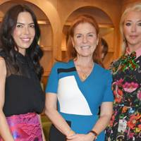 Josephine Daniel, Sarah, Duchess of York, and Tamara Beckwith