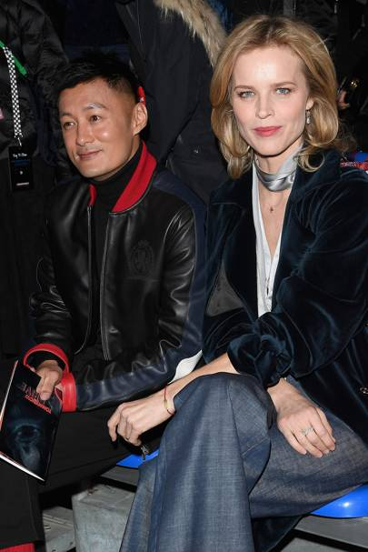 Shawn Yue and Eva Herzigova at Tommy Hilfiger A/W18