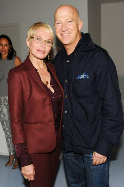 Ellen Barkin and Bryan Lourd