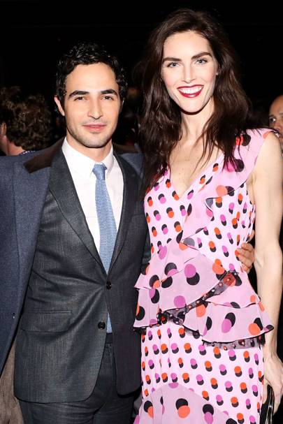 Zac Posen and Hilary Rhoda